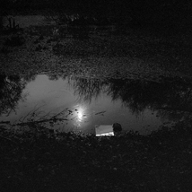 Nick Dykes | 'Mapmaker: Survey by Moonlight, Hookhamslade Pond, 2011' | 20x16in | £425 (edition of 15) | C-Type