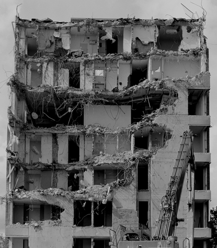 Peter Gibbons | 'Partially Demolished Building 2012' |12x16in | £280 framed | Silver-gelatin print