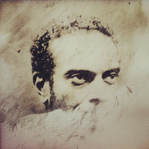 Edward Otchere | Theo Parrish, a Detroit DJ and producer | 50x40cm (inc. frame) | SE1 emulsion coated b/w lith print on fabriano paper (only digital reproductions for sale)