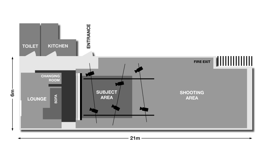 Professional recording studio floor plan for Photography studio floor plans