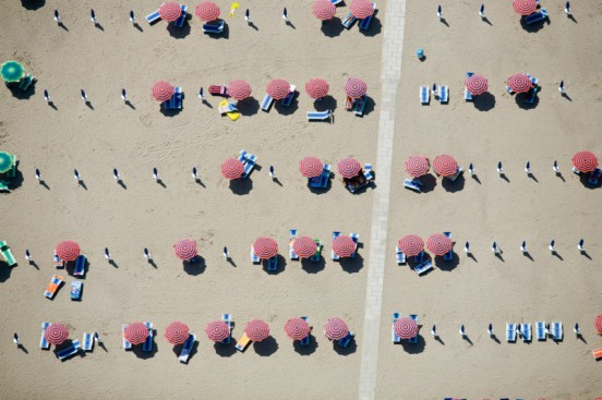 Up and Down Umbrellas, Lido, Spina, Italy, 2007