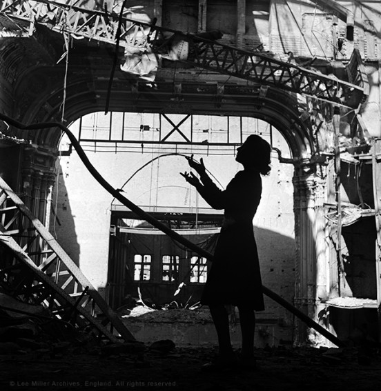 Irmgard Seefried, Vienna Opera House, Vienna, Austria 1945 by Lee Miller (315-87)